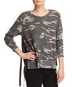 Pam & Gela | Side Slit Destroyed Sweatshirt Exclusive