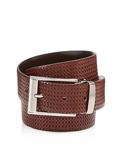 Canali | Reversible Braided Leather Belt