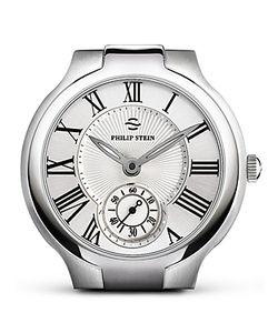 Philip Stein | Large Round Stainless Steel Watch Head 40mm