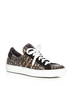 Belstaff | Dagenham Leopard Print Lace Up Sneakers