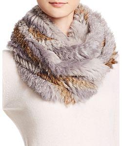 Jocelyn   Rabbit Fur Knit Infinity Scarf