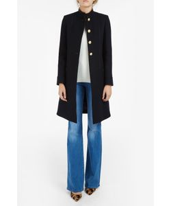 PAUL JOE | Womens Ls Gold Button Coat Boutique1