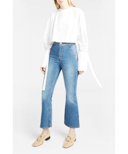 Ellery | Womens Cropped Dawstring-Shoulder Top Boutique1