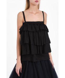 Martin Grant | Womens Linen Ruffle Top Boutique1