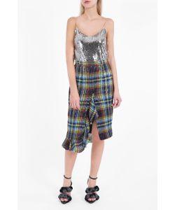 Marco de Vincenzo | Womens Ruffled Tartan Skirt Boutique1