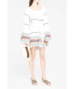 Lisa Marie Fernandez   Womens Sheer Short Peasant Dress Boutique1