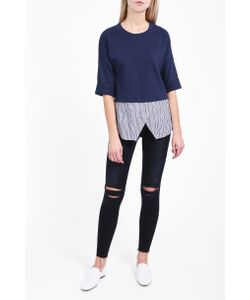 Derek Lam 10 Crosby | Womens Faux Two In One Top Boutique1