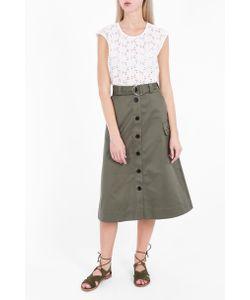 Markus Lupfer | Womens Cotton Drill Edie Skirt Boutique1