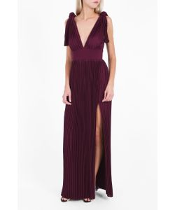 Elie Saab | Womens V-Neck Pleated Gown Boutique1