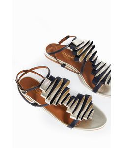 Malone Souliers | Womens Audrey Pleated-Leather Sandals Boutique1