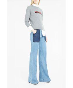 Bella Freud   Womens Pressure Intarsia Knit Jumper Boutique1