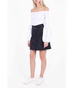 Markus Lupfer | Womens Cotton Drill Edie Short Skirt Boutique1