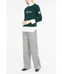 Bella Freud   Womens Libertas Chain-Stitch Jumper Boutique1