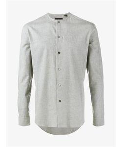 Curieux | Collarless Cotton Shirt