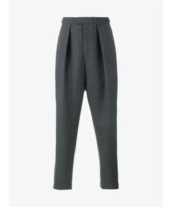 Curieux | Wool Pleated Tapered Trousers