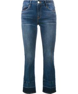 Frame Denim   Cropped Contrast-Hem Jeans