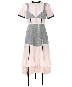 Sandy Liang   Accord Gingham And Lace Dress