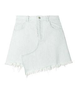 Sandy Liang   Asymmetric Frayed Denim Skirt