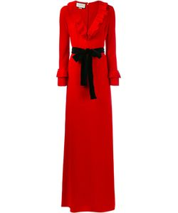 Gucci   Pleated Ruffle Gown