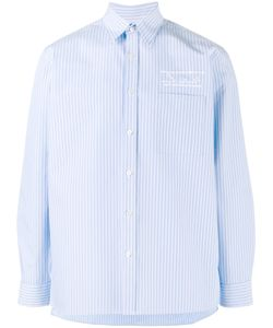 Martine Rose | Logo Embroide Striped Shirt