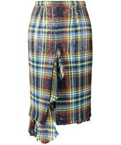 Marco de Vincenzo | Sequin Embellished Check Skirt