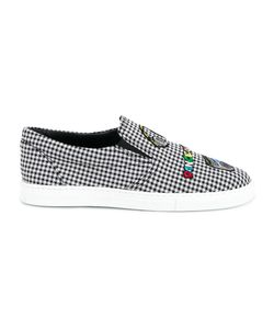 Mira Mikati | Checked Patched Slip On Sneakers