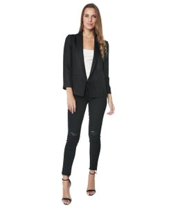 T by Alexander Wang | Charmeuse Collar Shrunken Blazer