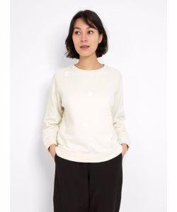 Folk   Fluffy Dot Sweatshirt Off