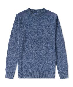 Blue Blue Japan | Shoulder Patch Crew Knit