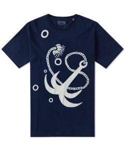 Blue Blue Japan | Bassen Dyed Japanese Anchor Tee