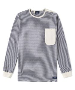 Bleu De Paname | Long Sleeve Mariniere Pocket Tee