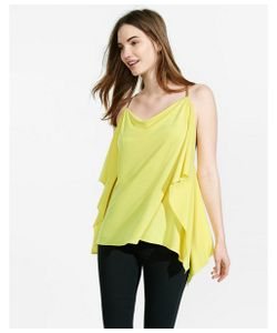 Express | Womens Camis Lemon Yellow Omega Chain Strap Drapey Cami