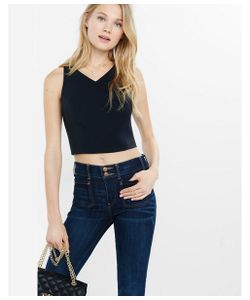 Express | Womens Tanks Tie-Back Cropped Tank