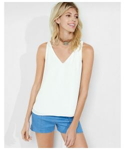 Express | Womens Tanks Deep V-Neck Strappy Back Tank