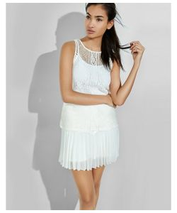 Express | Womens Tanks Sheer Mixed Lace Tank