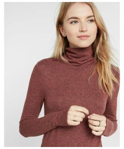 Express | Womens One Eleven Brushed Turtleneck