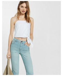 Express | Womens Camis Tie-Waist Cropped Essential Cami