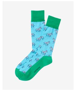 Express | Mens Zebra Pattern Dress Socks