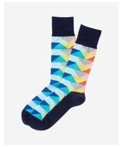 Express | Mens Geometric Pattern Dress Socks