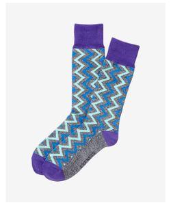 Express | Mens Marled Zigzag Dress Socks