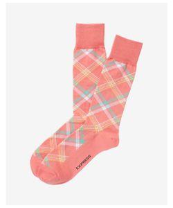 Express | Mens Bright Plaid Dress Socks