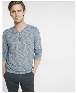 Express | Mens Exposed Seam Henley Sweater