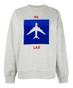 Être Cécile | Aeroplane Print Sweatshirt Womens Size Medium Cotton