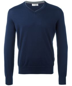 Brunello Cucinelli   V-Neck Jumper Mens Size 50 Cotton