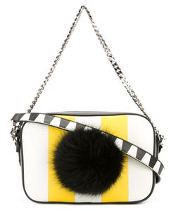 Les Petits Joueurs | Striped Pompom Crossbody Bag Womens Leather