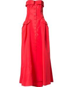 Carolina Herrera   Faille Bustier Gown Womens Size 8 Silk