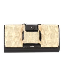 Perrin Paris | Woven Clutch Womens Leather/Ramie