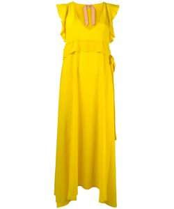 No21   Belted Sleeveless Dress Womens Size 44 Acetate/Silk