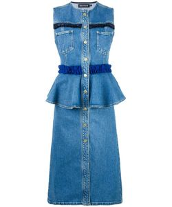 House Of Holland | Frill Denim Dress Womens Size 6 Cotton/Spandex/Elastane