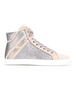 Hogan Rebel | Glitter Panel Sneakers Womens Size 38.5 Leather/Suede/Nubuck Leather/Polyester